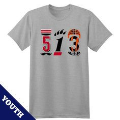da0f3f318 513 Cincinnati area code youth tee