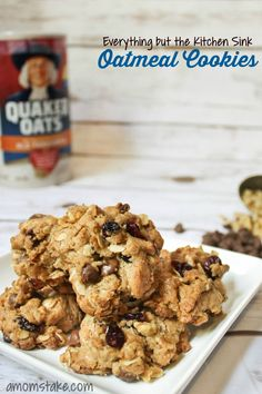Yummy fall cookies with a bit of everything in this -- everything but the kitchen sink oatmeal cookie recipe!
