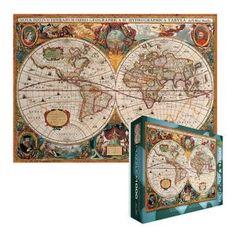 Antique Map 1000 Piece Puzzle