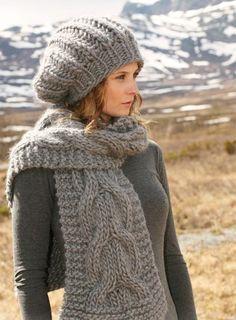 La Mercerie du Faubourg aime le beret slouchy ou rasta et son écharppe. Tuto de ce tricot gratuit et en français.