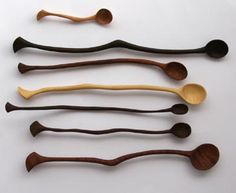 Unusual wooden spoons                                                                                                                                                      More