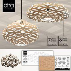 OTRA White-Eco friendly pendant lights-recycled cardboard pendant light, OTRA-Design, made in Canada lights,cardboard lights