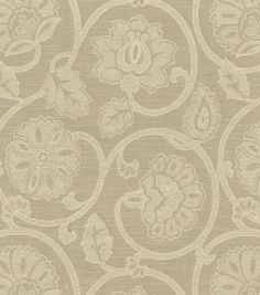 Upholstery Fabric-Waverly Siam Scroll Linen