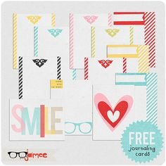 Free Journaling Journal Cards for Project life / 365