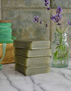 DIY: olive oil and clay soap