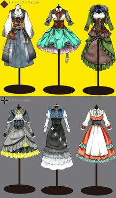 Manga Clothes, Drawing Clothes, Anime Outfits, Girl Outfits, Cute Outfits, Vetements Clothing, Soldier Costume, Adventure Outfit, Lolita Cosplay