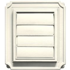 Builders Edge 140137079034 Scalloped Exhaust Vent 034, Parchment >>> Click on the image for additional details.