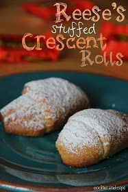 Reese's Stuffed Crescent Rolls   Omg @Destiney Headley we need to do this!
