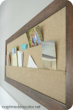 @HomeGoods burlap bulletin board for the Office Makeover