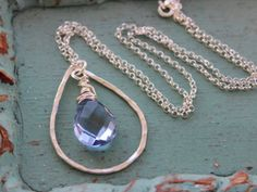Reese & Shore Designs - Something Blue Necklace #wedding #bride #jewelry #gift