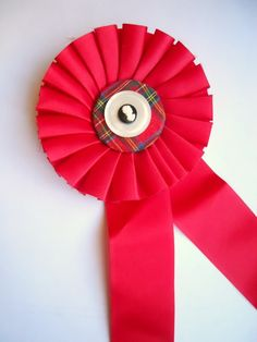 Items similar to vintage prize ribbon upcycled in plaid on Etsy Centerpieces, Centerpiece Ideas, Rosettes, Upcycle, Diy Projects, Plaid, Crafty, Holiday Decor, Unique Jewelry