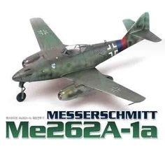"""Aircraft Aero Military Model 1/72 Me262A-1a """"Messerschmitt"""" #F12410"""