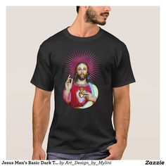 Jesus Men's Basic Dark T-Shirt