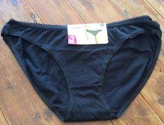 3 X Bikini Briefs Pants Cotton Black Size 18 Brand New Ladies Womens Undies  | eBay