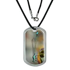 Blue Dragonfly  Dragon Fly Military Dog Tag Black Cord -- Check out this great product.(This is an Amazon affiliate link and I receive a commission for the sales)
