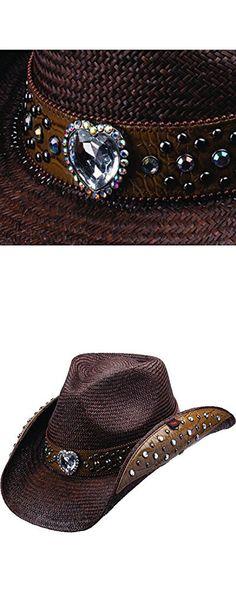 Peter Grimm Ltd Women s Bela Heart And Stud Embellished Dark Panama Straw  Brown One Size. Belt Purse 7a435ceea28f