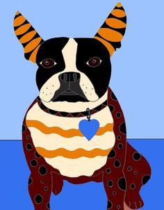 Boston Terrier by Diana Benitez