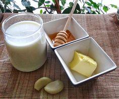 U mnie na wsi: Domowe sposoby - mleko z czosnkiem, miodem i masłe...