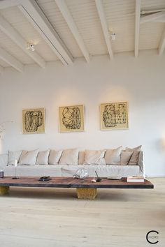 Enter the Loft Amsterdam   Winter 2017   picture by C-More Interior design Natural color Wood floor Sofa Xxl couch Loft