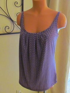 Womens Juniors New York  Co Shirt Top Blouse Medium Spaghetti Designer T Cami