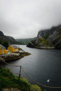 A small fishing village in northern Norway