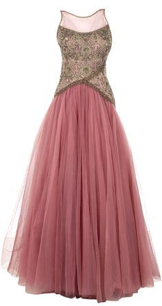 Pink embroidered bodice net gown available only at Pernia's Pop Up Shop. LOVE THIS!