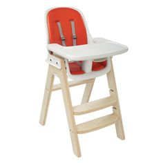 OXO Tot Sprout High Chair - Orange/Birch #OXO
