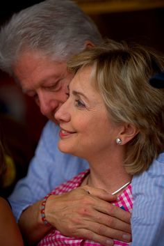 Bill & Hillary Clinton; this is truly love that is in spite of all of the obstacles and scandals this couple faced while in the white house!