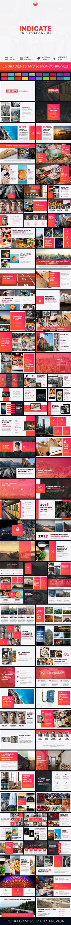 Indicate - Portfolio Slide - #PowerPoint Templates #Presentation #Templates Download here: https://graphicriver.net/item/indicate-portfolio-slide/19514507?ref=alena994