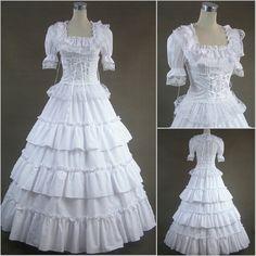 Freeship Renaissance Victorian Lolit Gothic/Civil War Southen Belle Ball Gown Dress Halloween dresses Sz US 6-26 XS-6XL V-15(China (Mainland))