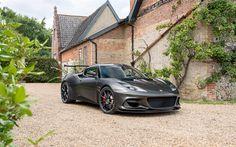 Scarica sfondi Lotus Evora GT430, 2018, auto Sportive, nero Evora, tuning, Lotus