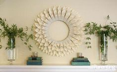 Paper Wreath! The step-by-step instructions make it super easy to make yourself!