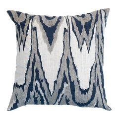 Ikat Navy Lounge Cushion 55x55cm - Bandhini Homewear Design