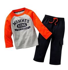 Boys Long Sleeve Clothing Set Baby T-Shirt+Pants Outfits Pajamas Set Toddler Boy Outfits, Toddler Boys, Kids Outfits, Baby Boys, Trucks And Girls, Little Boy And Girl, Altering Clothes, Cute Baby Clothes, Outfit Sets