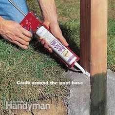 How to Set Fence Posts That Won't Rot: The Family Handyman