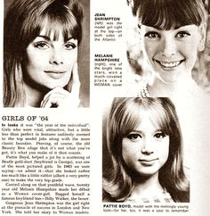 Girls of '64// The Shrimp and the former Mrs. George Harrison (and Eric Clapton)