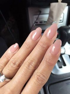 50 Reasons Shellac Nail Design Is The Manicure You Need Right Now -Jelly Sand Colored Almond Nails #shellac #shellacnail #naildesign #nailart
