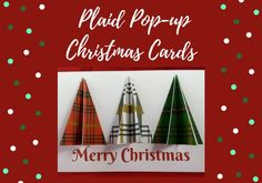 Plaid Pop-up Christmas Ornament Card | Printable Plaid Christmas Tree Card | 3D pop-up Christmas Card Paper Christmas Ornaments, Christmas Tree Cards, Printable Christmas Cards, Plaid Christmas, Holiday Pops, Pop Up Cards, Merry, Popup, Action