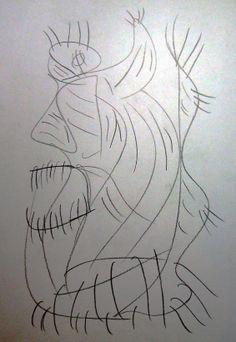"""Demone"" 2012 Matita su carta 29,5x21 ©Pietro Gargano"