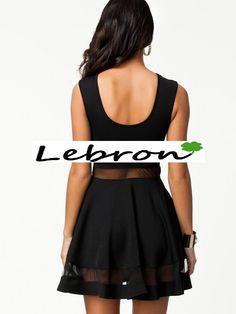 Vestido con transparencias 25€ negro parte trasera, disponible en mas colores, tallas desde la M-L
