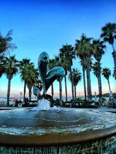 Stearns Warf Dolphin Fountain in Santa Barbara California via flickr