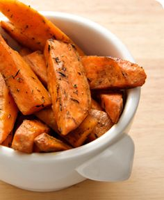 Sweet Potato Oven Fries  The classic french fry gets a makeover with this seasonal, good-for-you recipe