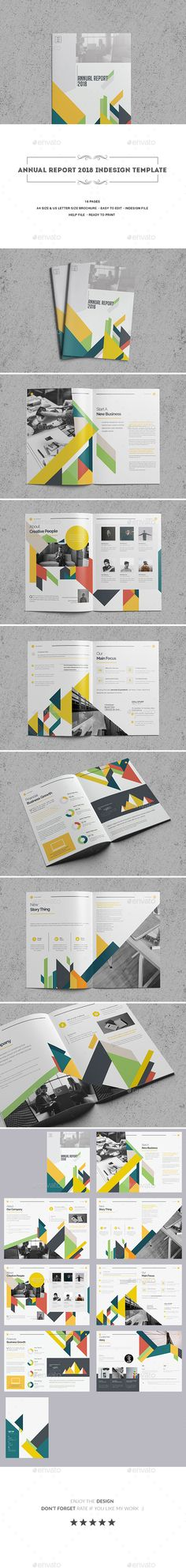 Annual Report Brochure 2018 Template InDesign INDD