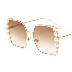 4afafd27e3864  7.98 Peekaboo pearl sunglasses women luxury brand designer 2019 birthday  gift female sun glasses square frame uv400 metal black gold  sunglasses   shades ...