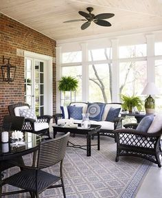 Love this space, would be so easy to convert the back patio.