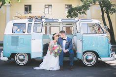 Свадьба на ВДНХ с ретро автобусом хиппи Volkswagen T1 #wedding