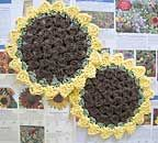 Free Tutorial:  Sunflower Dish or Wash Cloth  http://www.bellacrochet.com/index.php?main_page=document_product_info=5_id=37