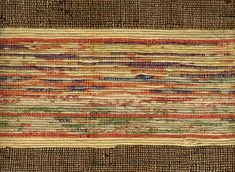 Saki-ori obi, Woven rag textile; Japan; 20th century by Knoxville Museum of Art.