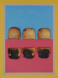 Burnt Toast Rothko an 18 X 24 acrylic and toast on canvas.