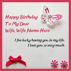 Happy Birthday cards for Wife – Wife Birthday cards